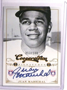 2012 Panini Cooperstown Hall Of Fame Juan Marichal autograph auto #/180 *72309