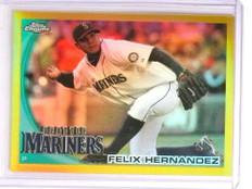 2010 Topps Chrome Gold Refractor Felix Hernandez #D24/50 #92 *72354