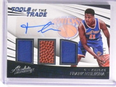 2017-18 Absolute Tools Trade Frank Ntilikina autograph jersey ball rc /149 *72344