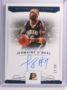2017-18 National Treasures Jermaine O'neal autograph auto #D13/99 *72346