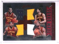2016-17 Absolute Team Quads Cavs Lebron James Irving Love jersey #D06/25 *72282