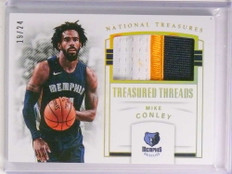 2017-18 National Treasures Treasured Threads Mike Conley 3clr patch #D/24 *72320