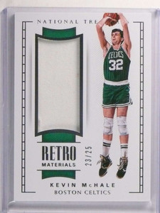 2017-18 National Treasures Retro Materials Kevin Mchale jersey #D23/25 *72323