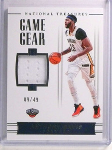 2017-18 National Treasures Game Gear Anthony Davis jersey #D09/49 #GG_16 *72349