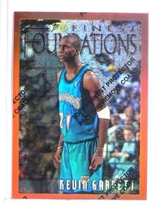 1996-97 Topps Finest Refractor Kevin Garnett #205 *72340