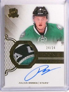 2016-17 Upper Deck The Cup Gold Julius Honka  autograph patch rc #D24/24 *72300