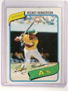 1980 Topps Rickey Henderson rc rookie #482 Vg *46511