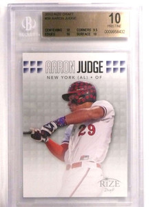 2013 Rize Draft Aaron Judge rc rookie #36 BGS 10 Pristine *72451