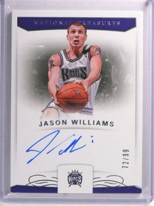 2017-18 National Treasures Jason Williams autograph auto #D72/99 #S-JWL *72388