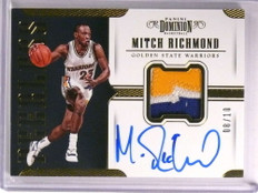 2017-18 Dominion Peerless Mitch Richmond autograph auto patch #D08/10 *72495