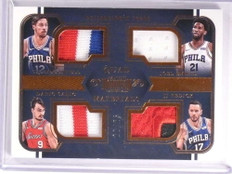 2017-18 Dominion Mcconnell Joel Embiid Saric Redick quad patch #D22/25 *72547