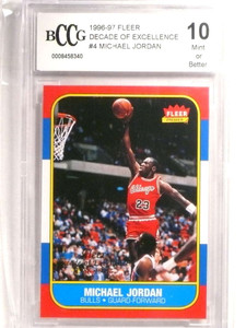 1996-97 Fleer Decade Of Excellence Michael Jordan #4 BCCG 10 Bulls *72464