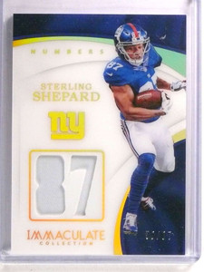 2017 Panini Immaculate Numbers Sterling Shepard jersey #D59/87 #NU-72 *72416