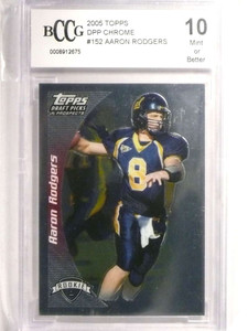 2005 Topps DPP Draft Chrome Aaron Rodgers rc rookie #152 BCCG 10  *72458