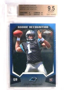 2011 Topps Chrome Rookie Recognition Cam Newton rc #RRCM BGS 9.5 *72465