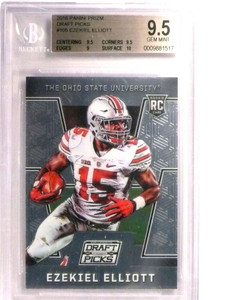 2016 Panini Prizm Draft Picks Ezekiel Elliott rc rookie #105 BGS 9.5 *72467