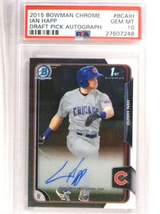 2015 Bowman Chrome Ian Happ autograph auto rc rookie PSA 10 GEM MINT *72713