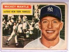 1956 Topps Mickey Mantle #135 Fair Yankees *72755