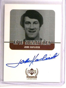 1999-00 Upper Deck Century Legends Epic Signatures John Havlicek autograph *72774