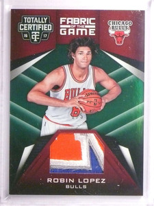 2016-17 Totally Certified Fabric Of THE Game Robin Lopez 3clr patch #D1/5 *72672