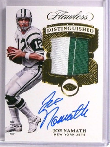 2017 Panini Flawless Distinguished Joe Namath autograph auto patch #D05/10 *72744