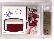 2015 National Treasures College Jameis Winston auto patch rc /99 BGS 9.5 *72813