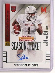 2015 Contenders Draft Picks Stefon Diggs autograph auto rc rookie #143 *72855