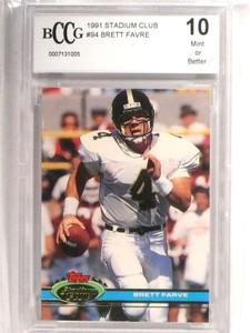 1991 Stadium Club Brett Favre rc rookie #94 BCCG 10 MINT OR Better *72724