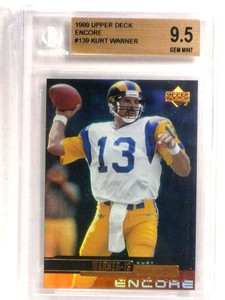 1999 Upper Deck Encore Kurt Warner rc rookie #139 BGS 9.5 GEM MINT Tough! *72736