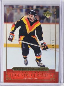 04-05 Upper Deck Legends Classics Gold Parallel Dave Tiger Williams #D04/25 *444