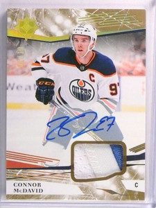 2017-18 Ultimate Collection Connor Mcdavid autograph auto patch #D03/10 *72983