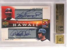 2005 Upper Deck Hawaii Derek Jeter Ken Griffey Jr. autograph #/10 BGS 9.5 *72950