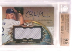 2013 Topps Triple Threads Clayton Kershaw autograph jersey #d35/99 BGS 9.5 *72959