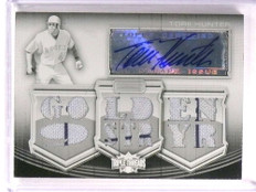 2010 Topps Triple Threads White Whale Torii Hunter autograph jersey #D 1/1 *73006
