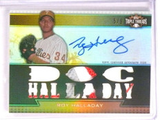 2011 Topps Triple Threads Roy Halladay autograph auto jersey patch #D5/9 *73013