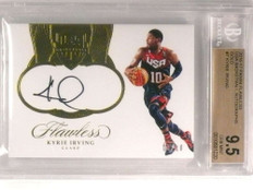2016-17 Panini Flawless USA Gold Kyrie Irving autograph #D03/10 BGS 9.5 *72963