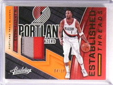 2017-18 Absolute Established Threads Evan Turner 2clr patch #D04/10 *72890