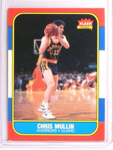 1986-87 Fleer Chris Mullin rc rookie #77 *72932