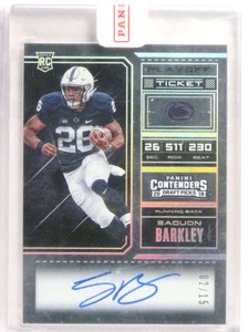 2018 Panini Contenders Playoff Ticket Saquon Barkley autograph rc #D02/15 *72978