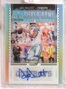 2017 Panini Optic Super Bowl Contenders Dak Prescott autograph #D02/25 *73029