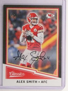 2017 Panini Classics Black Parallel Alex Smith autograph auto #D 1/1 #61 *73036