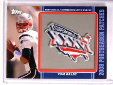 2009 Topps Postseason Patches Super BOWL XXXVI Tom Brady #PPR31 *72879