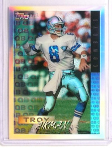 1995 Topps Mystery Finest Refractor Troy Aikman *72934