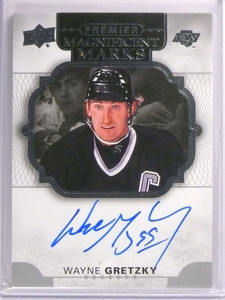2017-18 Upper Deck Premier Magnificent Marks Wayne Gretzky autograph *72991