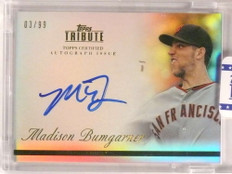 2012 Topps Tribute Madison Bumgarner autograph auto #D03/99 #TA-MB1 *73077