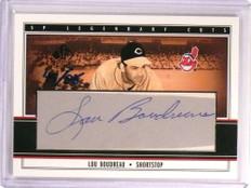 2002 Sp Legendary Cuts Lou Boudreau autograph auto #D44/85 #Lbo *73094