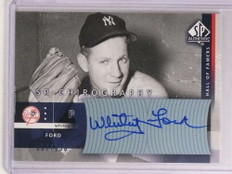 2003 Sp Authentic Chirography Whitey Ford autograph auto #D67/150 #WF *73131