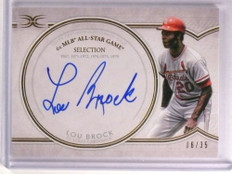 2018 Topps Definitive All-Star Game Lou Brock autograph auto #D06/35 *73172