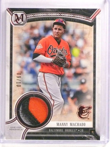 2018 Topps Museum Collection Manny Machado 3clr patch #D09/10 #MMA *73108