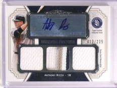 2012 Topps Museum Anthony Rizzo autograph patch jersey rc #D13/235 *73126